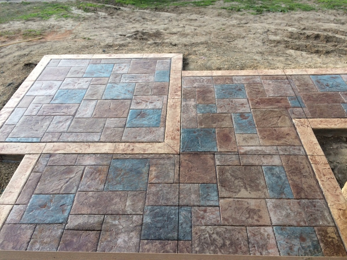 most popular stamped concrete pattern